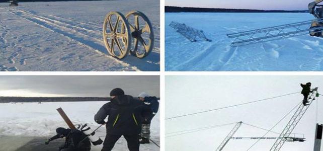 Kar Üzerinde Kablolu Kayak
